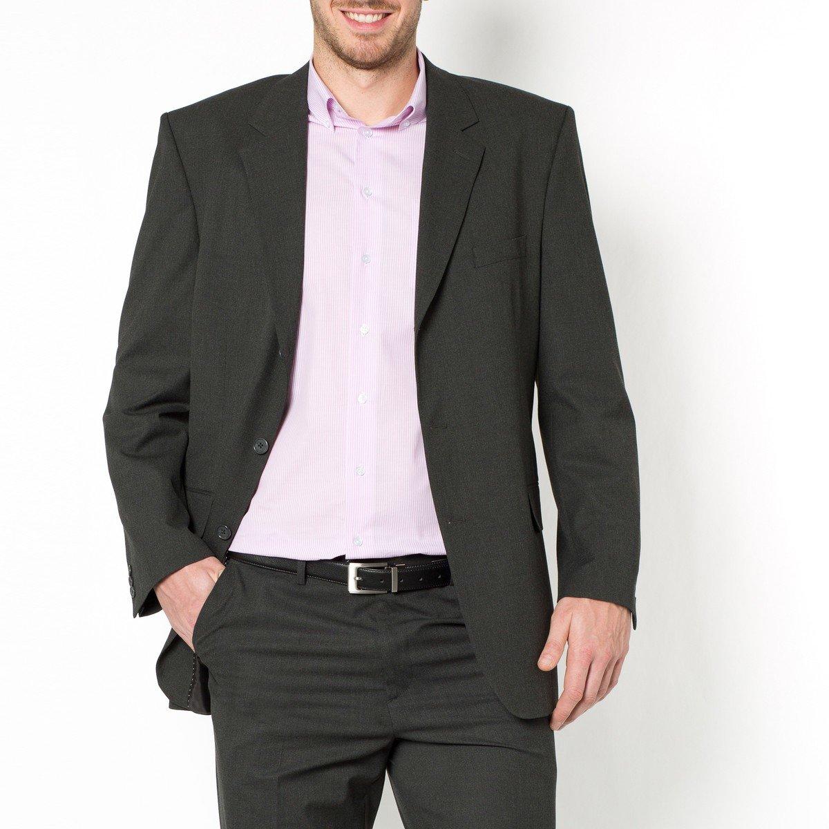 Пиджак La Redoute Костюмный прямого покроя на рост более м 56 черный