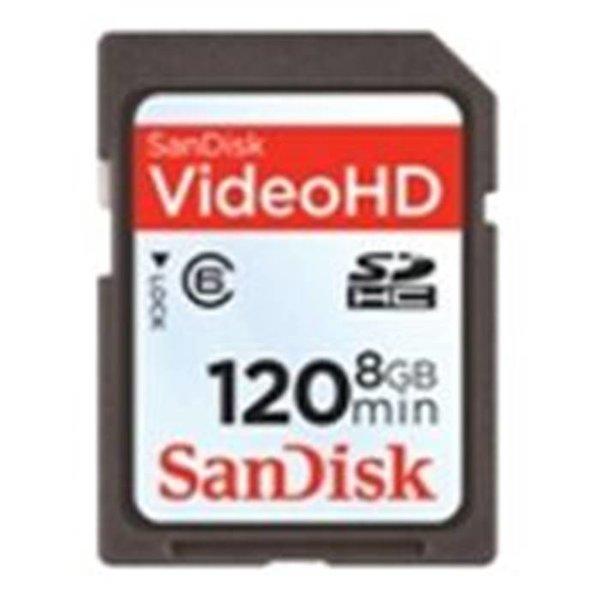 Sandisk Карта памяти SD 8Gb Sandisk(SDSDX-008G-X46 SanDisk стандарт SDHC 8ГБ, eXtreme HD Video)