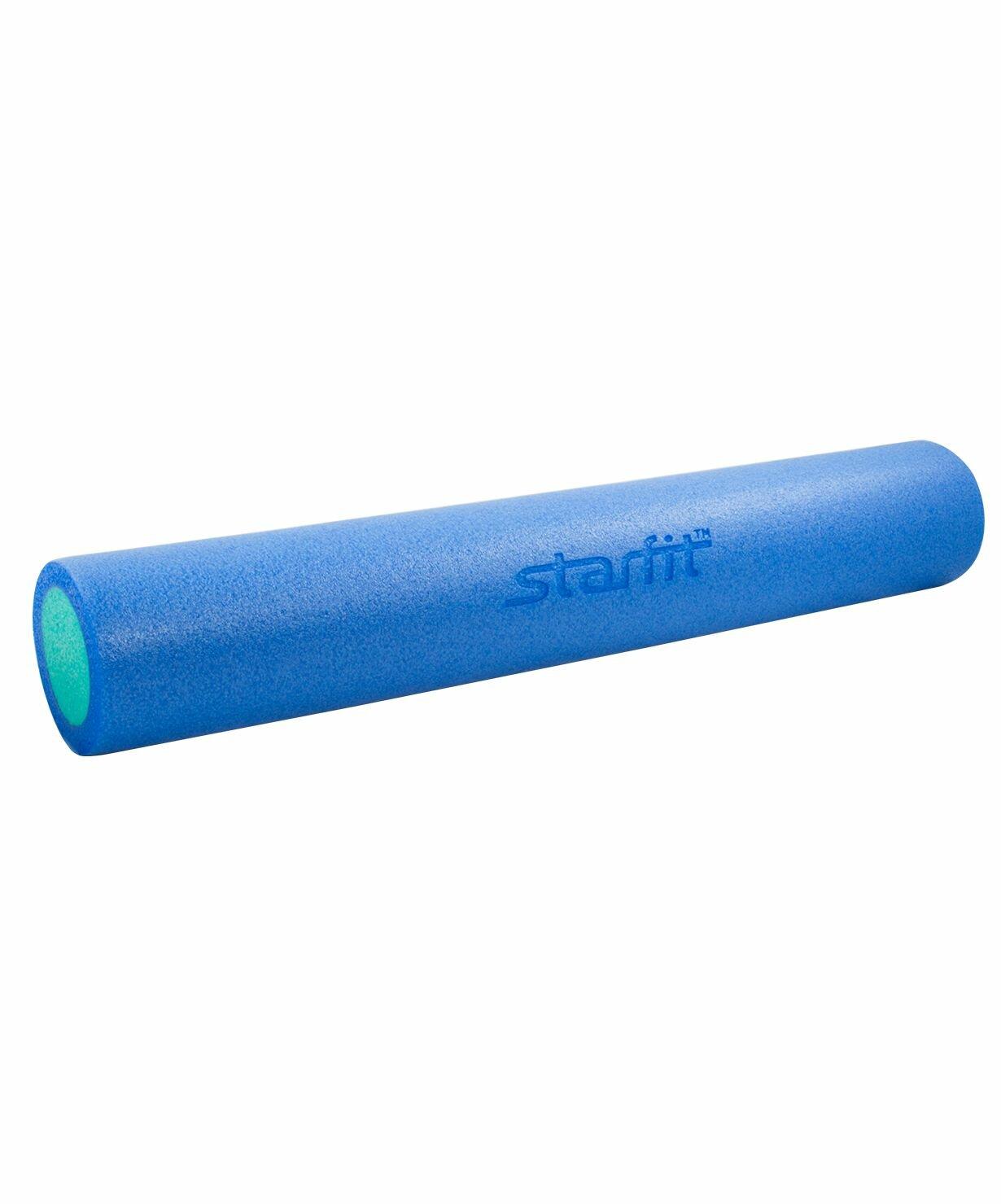 Ролик для йоги и пилатеса FA-502, 15х90 см, синий/голубой