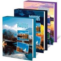"""Фотоальбом BRAUBERG на 60 фотографий 10х15 см, твердая обложка, """"Природа"""", ассорти, 390660"""