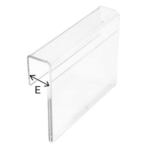 Ценникодержатель 40 30мм e=25мм (арт.cnd.186.tr)