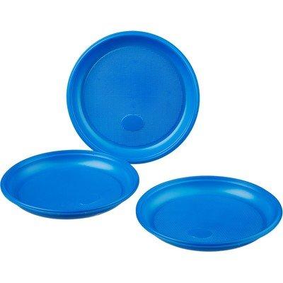 Тарелка одноразовая Комус d 170мм, синяя, ПС 12шт/уп