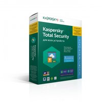 Антивирус KASPERSKY Total Security Multi-Device продление лицензии на 1 год, с правом установки на 2 ПК (BOX)