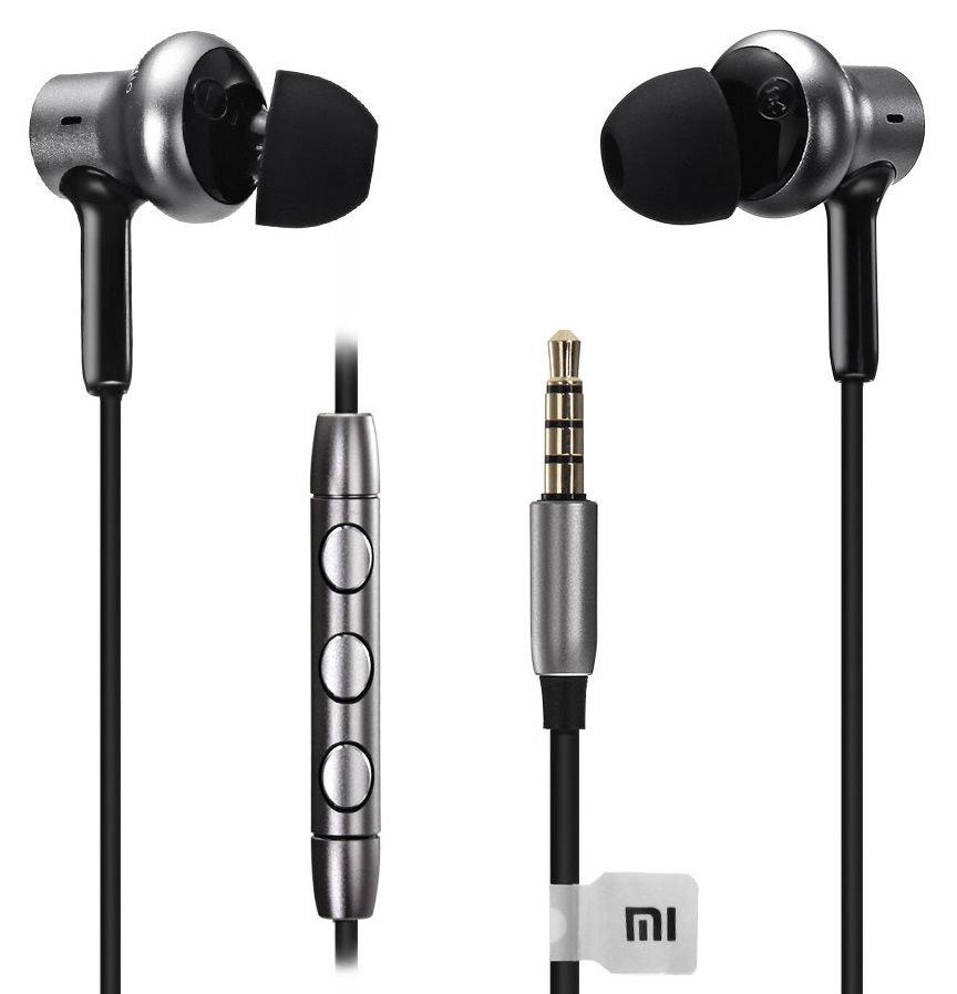 Наушники Xiaomi Mi in-Ear Pro HD, черно-серебристый