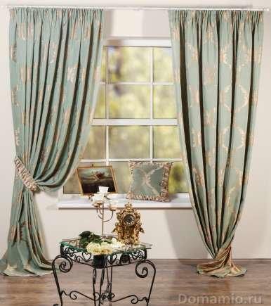 Комплект штор Лувр (зеленый), жаккард,ширина: 170/240 см