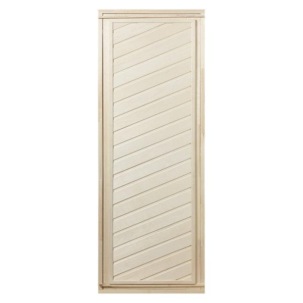 дверь д/бани глухая диагональная 1,9х0,7м липа в комплекте