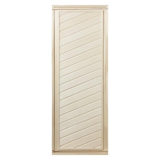 дверь длябани глухая диагональная 1,9х0,7м липа в комплекте