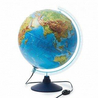 Глобус интерактивный физико-политический с подсветкой, рельефный, 320 мм