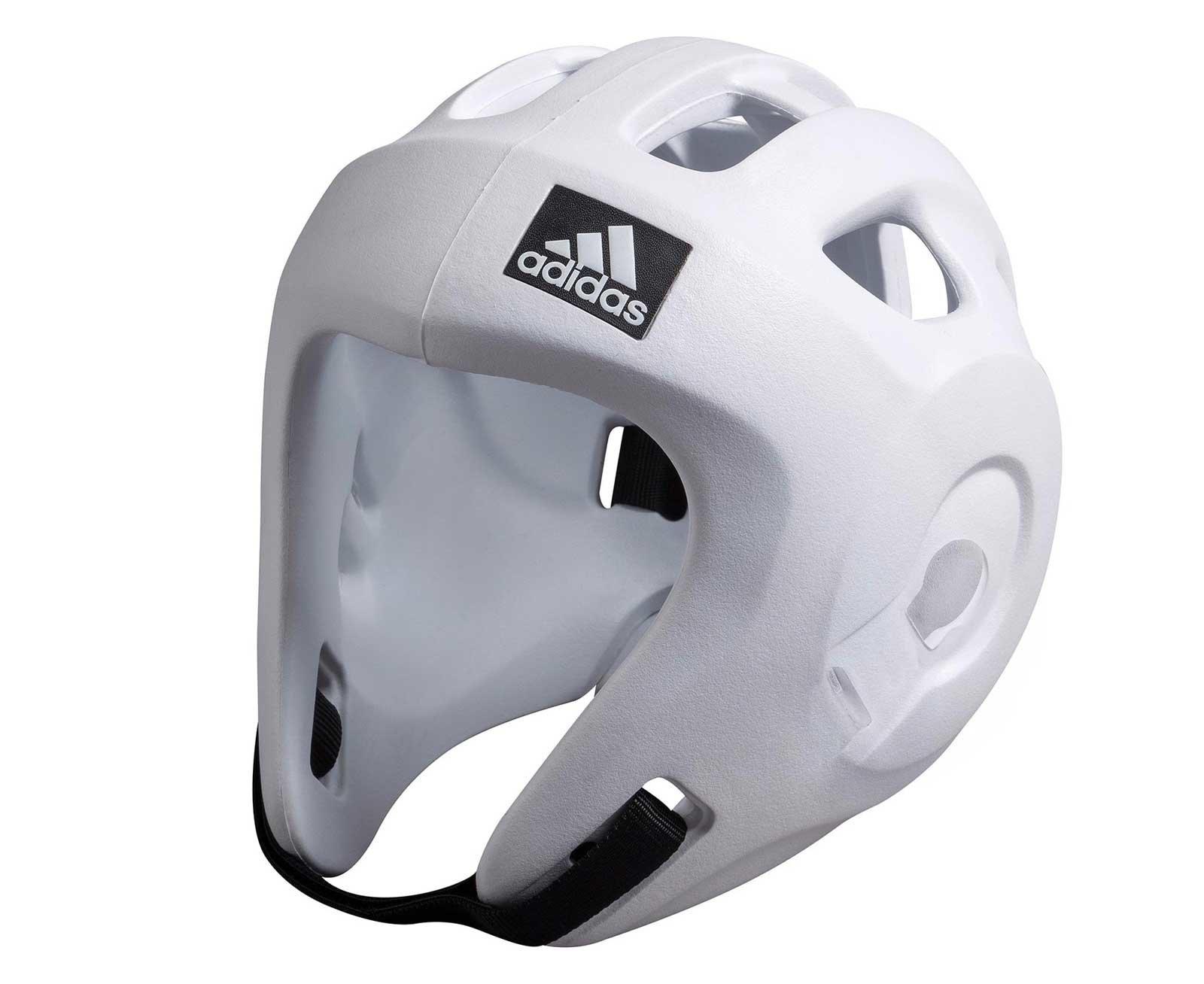 Шлем для единоборств Adizero (одобрен WAKO и WTF) белый (размер XS)