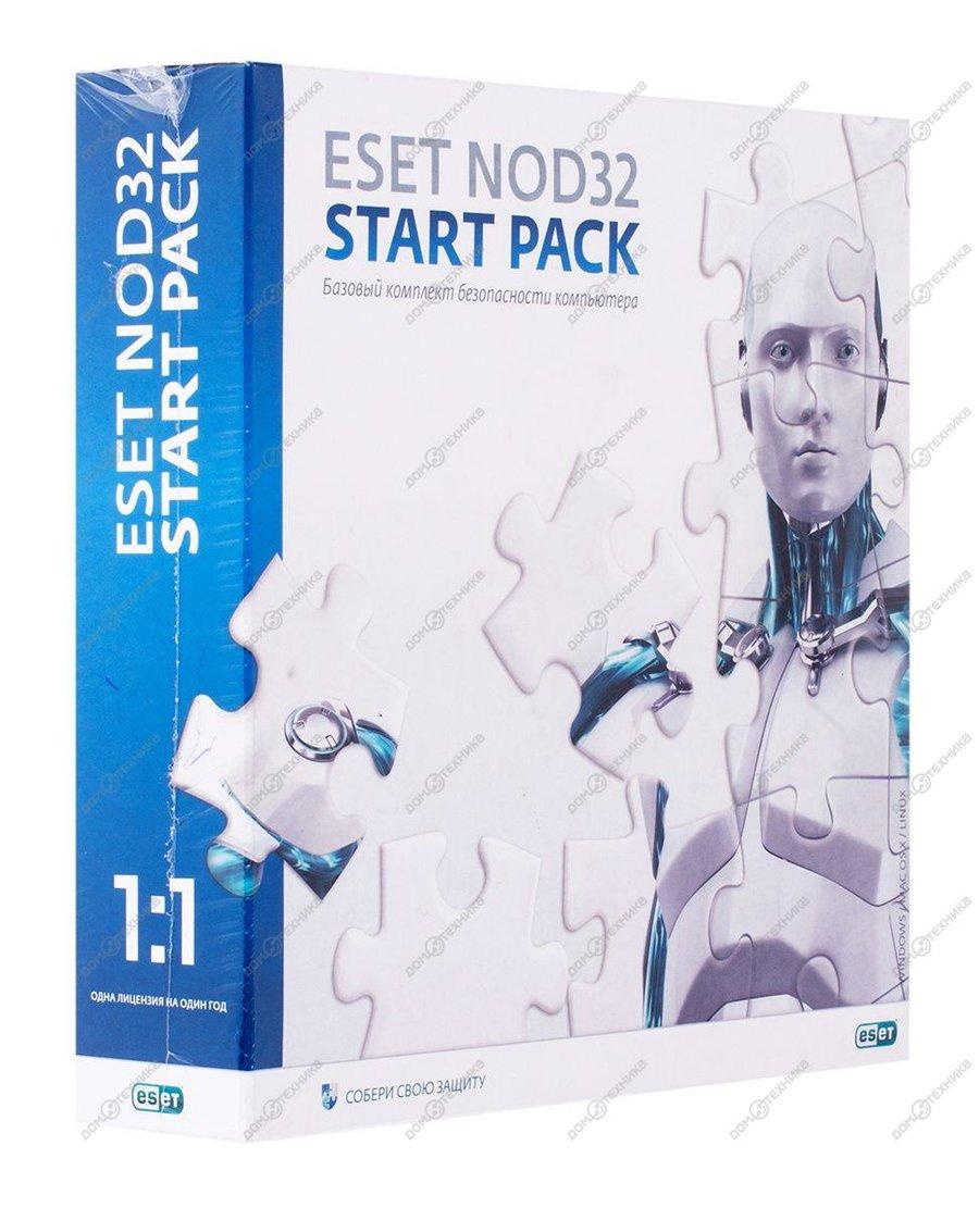 ПО ESET NOD32 Start PACK NOD32-ASP-NS[BOX]-1-1
