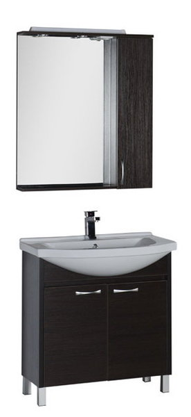 """Мебель для ванной Aquanet Донна 80 (цвет """"венге"""")"""