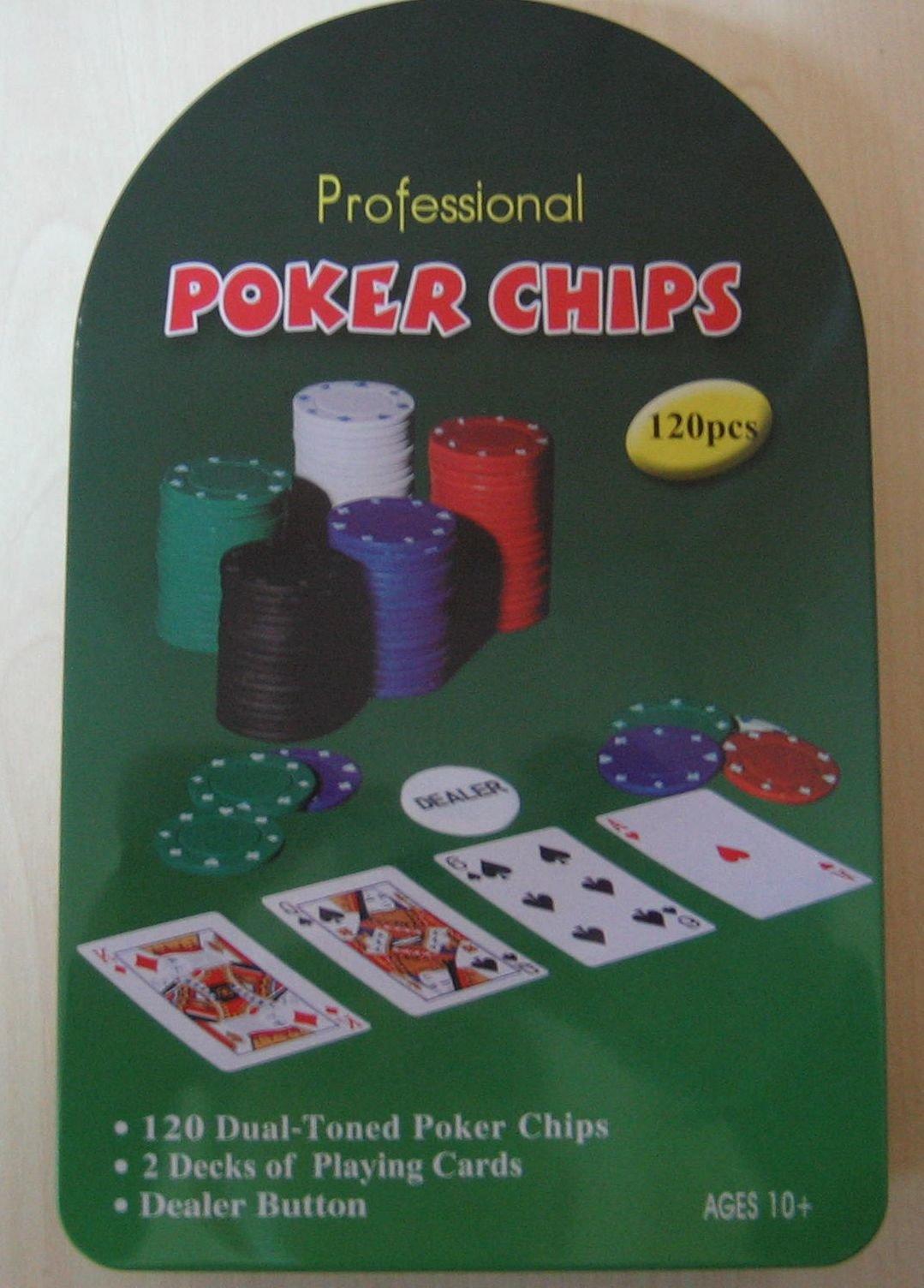 Набор для покера (120 фишек+ 2 колоды карт) 7104MY-111