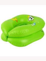 Детский надувной дорожный горшок зелёный