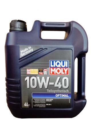 LiquiMoly 10W40 Optimal (4L) масло моторное !синт.\ API SL/CF, ACEA A3-04, B3-04: MB 229.1 LIQUI MOL