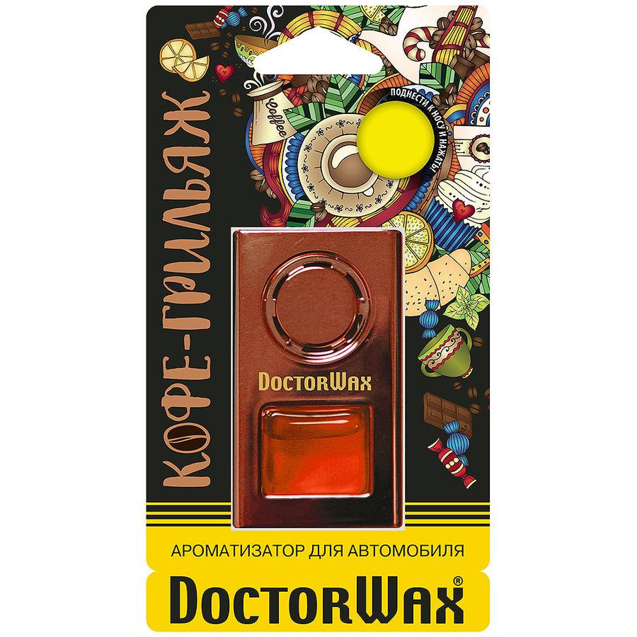 Ароматизатор воздуха на дефлектор обдува Doctor Wax. Кофе-Грильяж DW0815