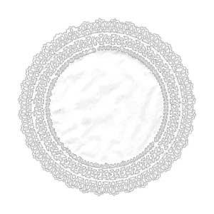 62026 Салфетка бумажная круглая белая (250 мм), 100 шт.