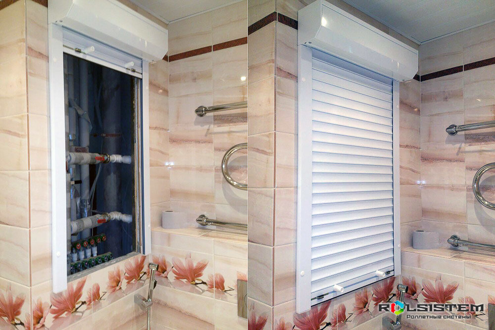 Рольставни 850х1000 в туалет, санузел, ванную (сантехнические роллеты)