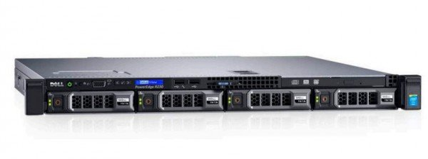 Сервер Dell R230 - 1x Intel Xeon E3-1275v6/32Gb/4x1Tb SATA/H330/1x250w