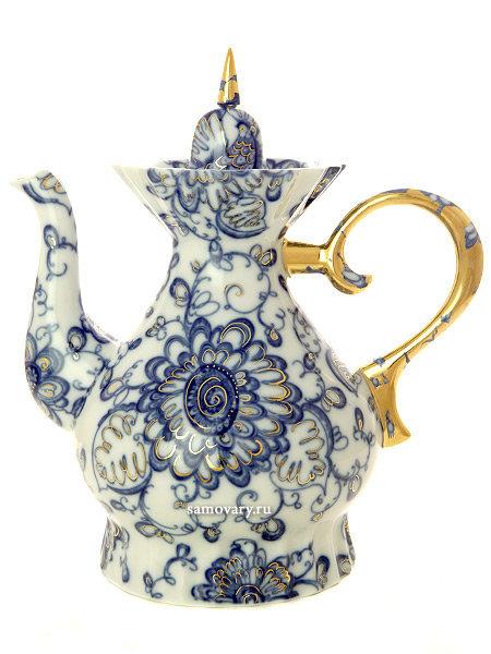 """Чайник заварочный форма """"Шатровая"""", рисунок """"Поющий сад"""", Императорский фарфоровый завод"""