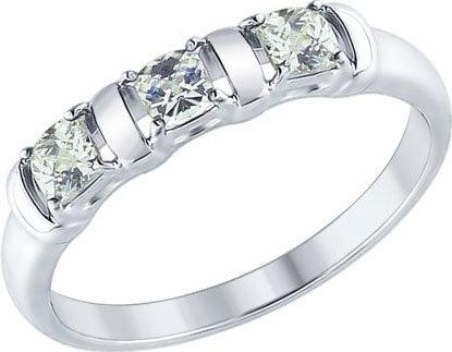 Серебряное кольцо SOKOLOV 89010065_s с фианитами Swarovski, размер 17 мм