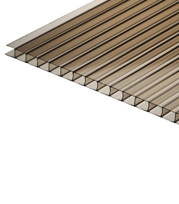 Поликарбонат сотовый 2100х6000х6 мм Эко бронза