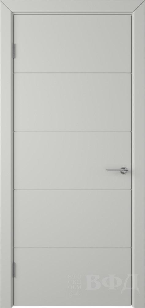Межкомнатная дверь Владимирская Тривиа ДГ (Эмаль светло-серая)