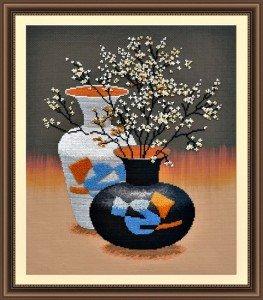 Набор для вышивания Овен Ваза с цветами