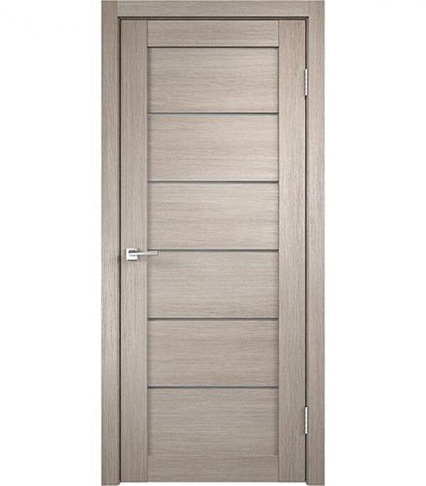 Дверное полотно VellDoris VISION капучино со стеклом экошпон 800x2000 мм