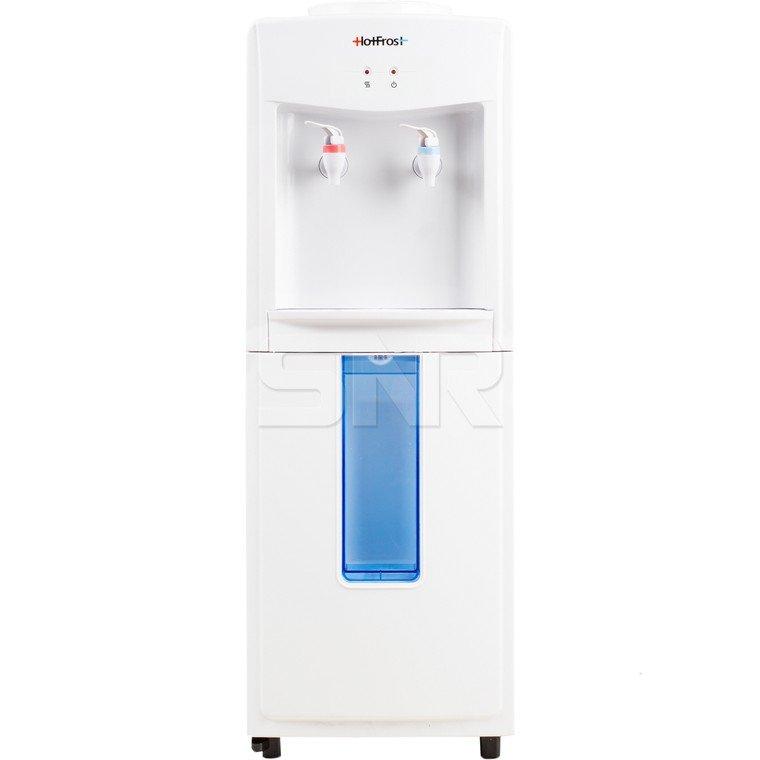 Кулер для воды HotFrost V118F, напольный, нагрев/без охлаждения, электронный, 2 крана, белый, 120311803