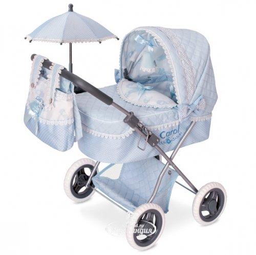 Decuevas Toys Коляска для куклы с сумкой и зонтиком Кэрол 65 см 85022