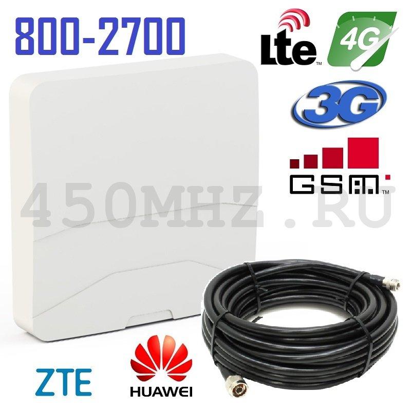 Мультистандартная панельная универсальная направленная Антенна 3G / 4G LTE / GSM, 7-9 дБ (800-2700 МГц)