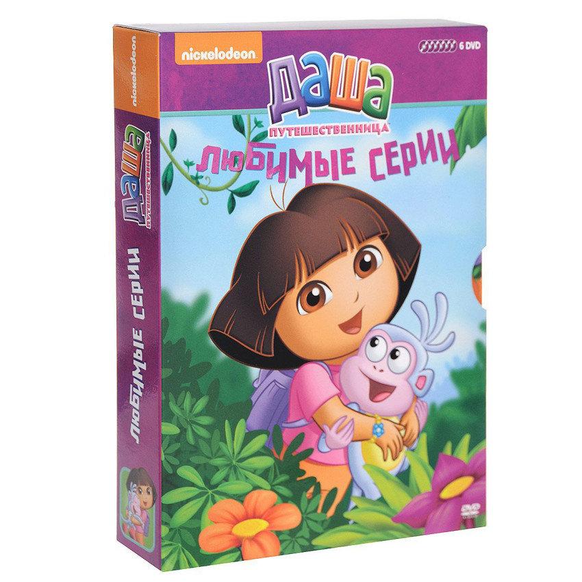 DVD. Коллекция мультфильмов Nickelodeon. Даша-путешественница. Любимые серии. Выпуск 1 (количество DVD дисков: 6)
