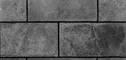"""Декоративный искусственный камень РокСтоун Tsegla """"Грубый бетон"""" 919.6П, Черный пепел"""