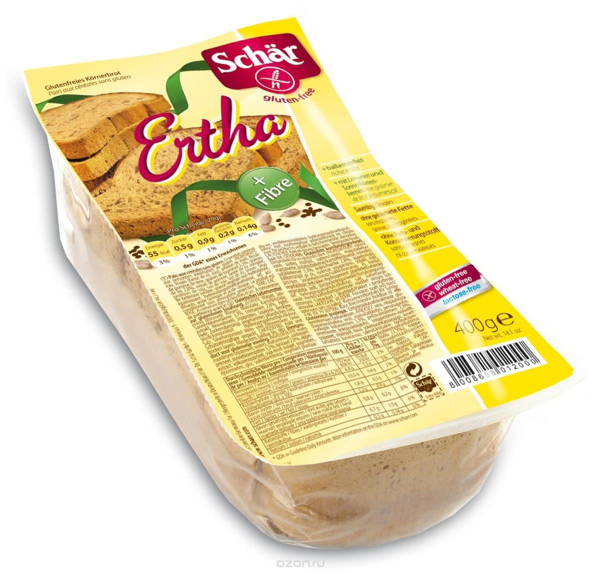 Dr. Schar Ertha Хлеб темный, 400 г