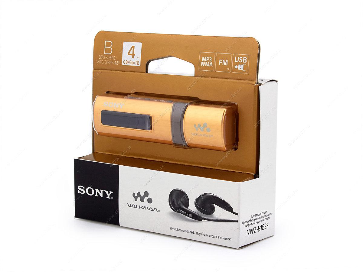 МР3 плеер Sony nwz-b183f 4gb золотой