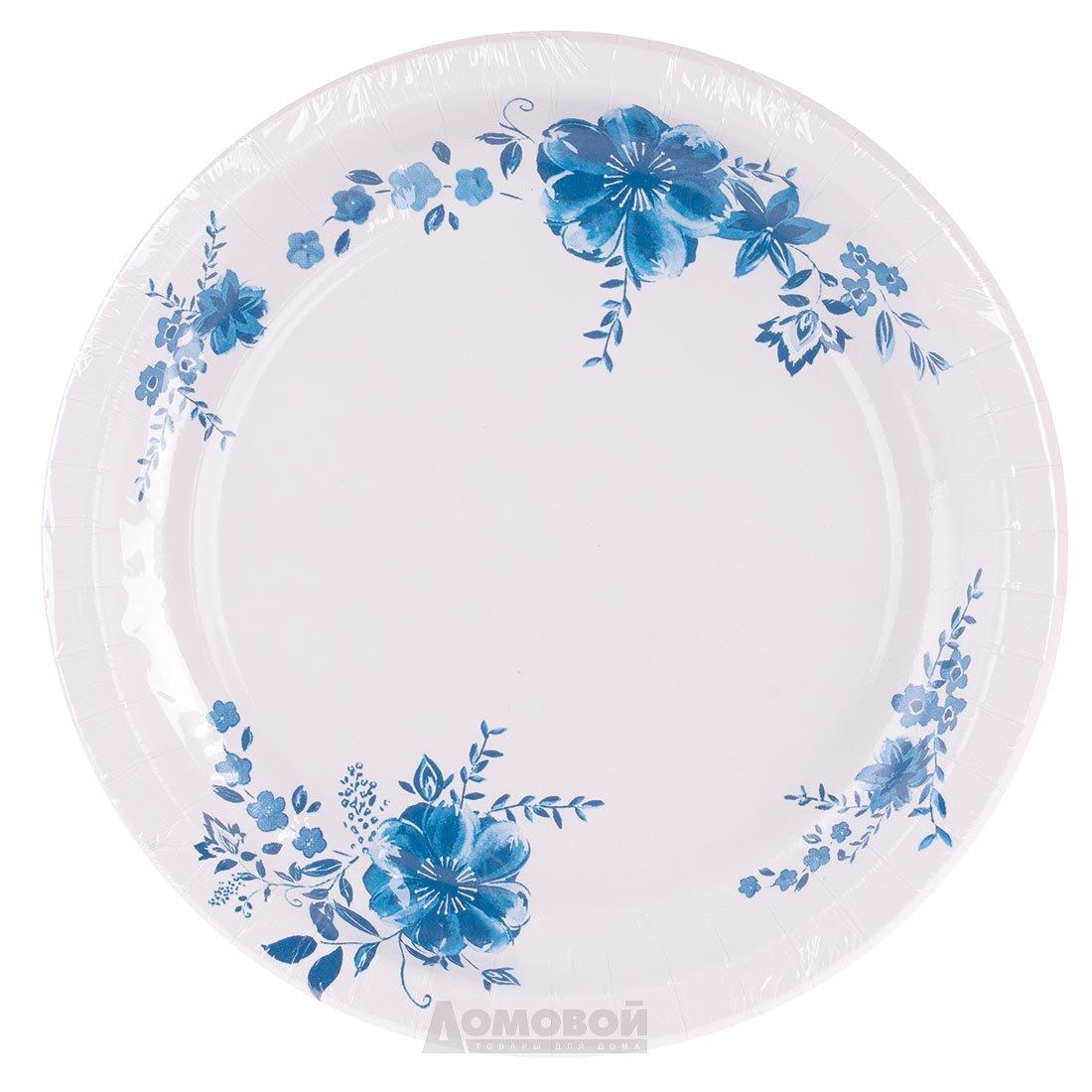 Набор тарелок одноразовых бум LAURA, 22 см, 10 шт.