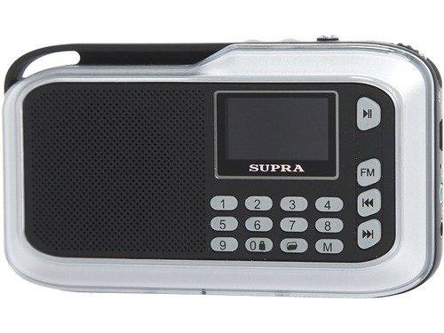 Портативная акустика SUPRA PAS-3909, серебристая