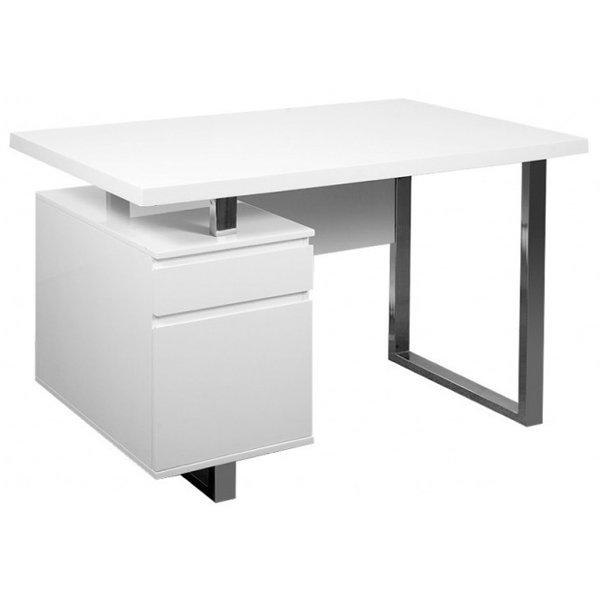 Стол компьютерный Бюрократ DL-HG003/White
