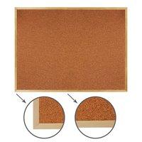 Доска пробковая BRAUBERG 90х120 см, для объявлений, деревянная рама