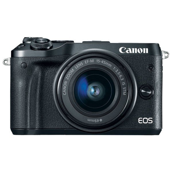 Беззеркальный фотоаппарат Canon EOS M6 kit EF-M 15-45mm f/3.5-6.3 IS STM черный