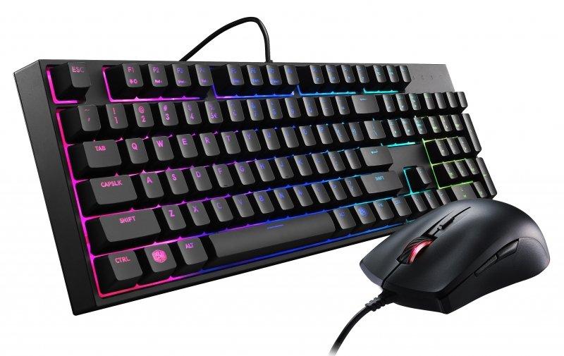 Комплект клавиатура и мышь Cooler Master MasterKeys Lite L Combo with RGB Black (SGB-3040-KKMF1-RU)