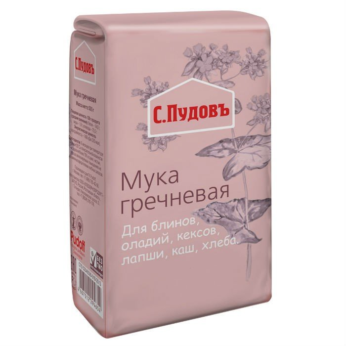 Мука гречневая «С. Пудовъ», 500 г