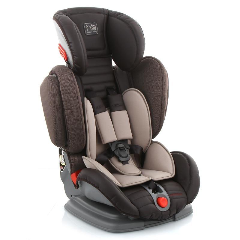 Автокресло группа 1/2/3 (9-36 кг) Happy Baby Mustang Black/Brown