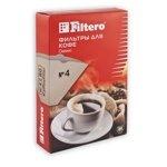 Filtero фильтры для кофе, №4/80, коричневые