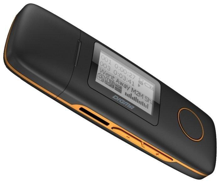 Цифровой плеер Digma U3 - 4Gb Black-Orange