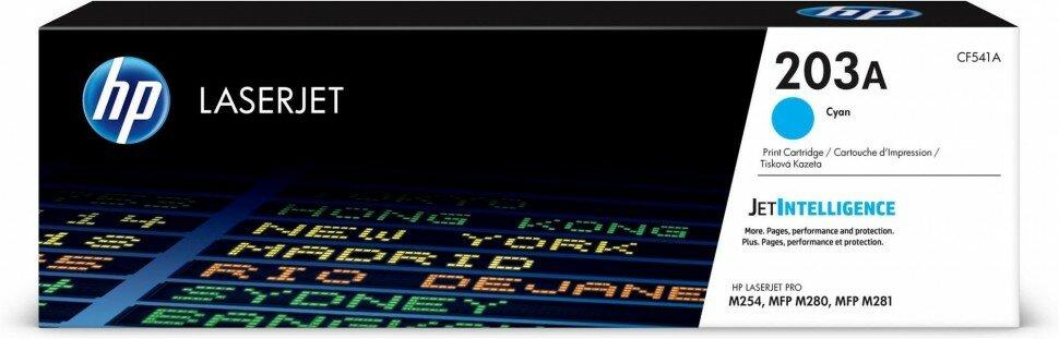 CF541A (203A) оригинальный картридж HP для принтера HP Color LaserJet Pro M254/ M280/ M281 голубой, 1300 страниц