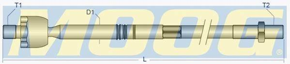 Тяга рулевая vw t4 2.0-2.8/1.9d-2.5tdi 90 Moog VOAX8016