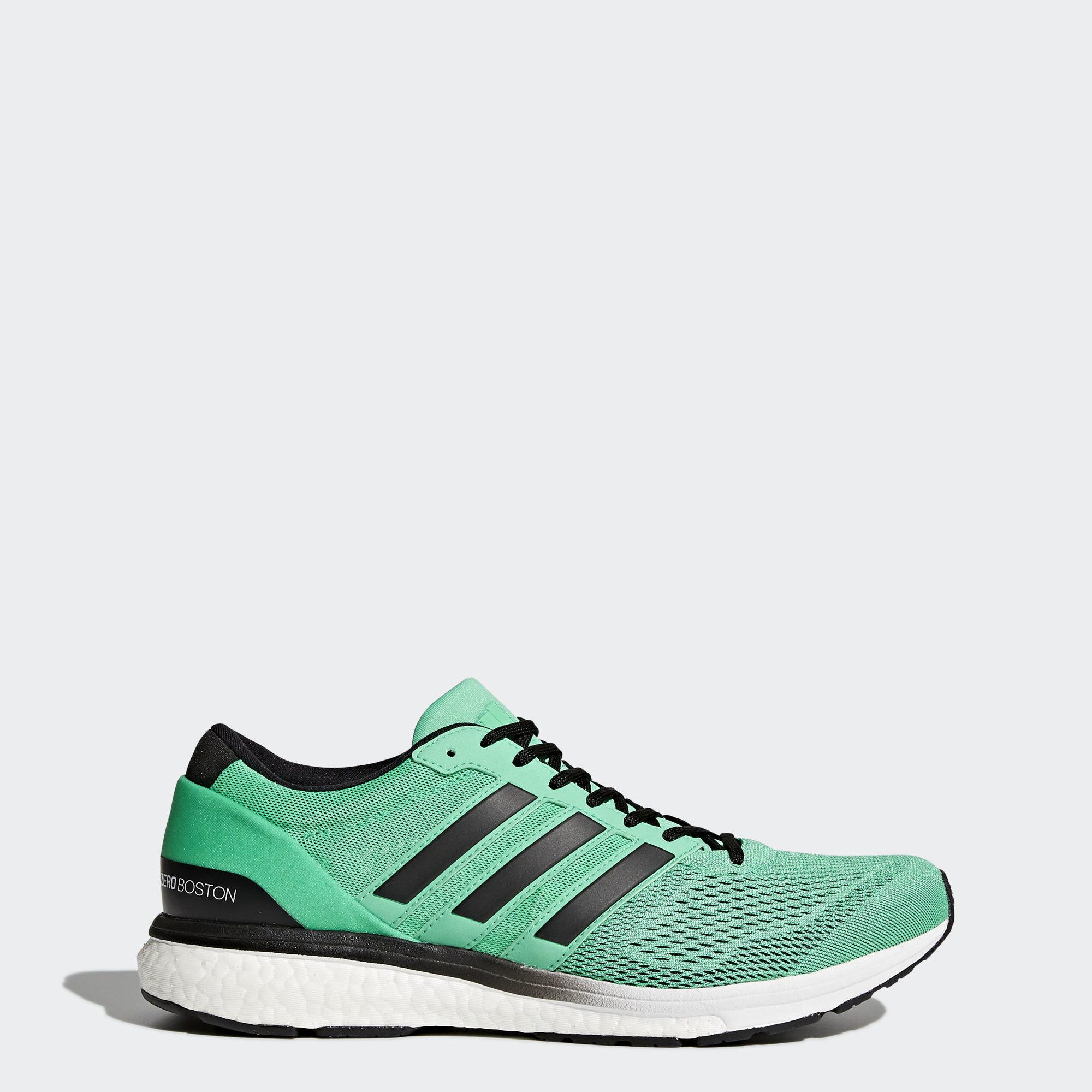 Кроссовки для бега adizero Boston 6 adidas Performance Hi-Res Green/Core Black/Ftwr White