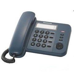 Телефон Panasonic KX-TS2352RUC (синий) {индикатор вызова, порт для доп. телеф. оборуд., 4 уровня громкости звонка}