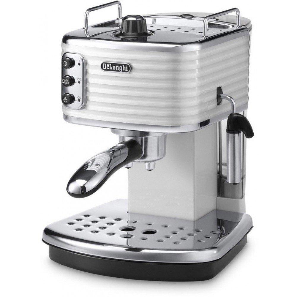 Рожковая кофеварка Delonghi Scultura ECZ 351.W (белая)